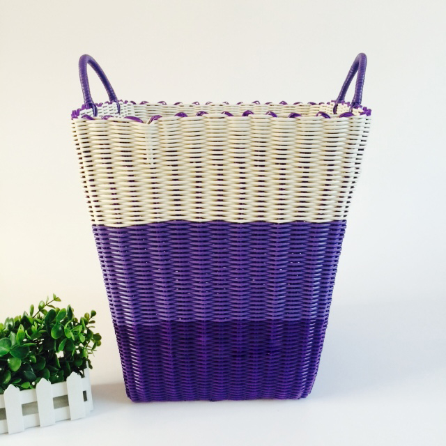 Dirty Clothes Basket Plastic Pipe Woven 4HQD (14)