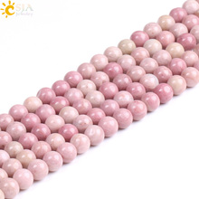Buy CSJA Wholesale Natural Rhodochrosite Stone Beads Jewelry Making Pink Loose Bead 4 6 8 10mm DIY Charm Bracelet Necklace F235 for $2.51 in AliExpress store