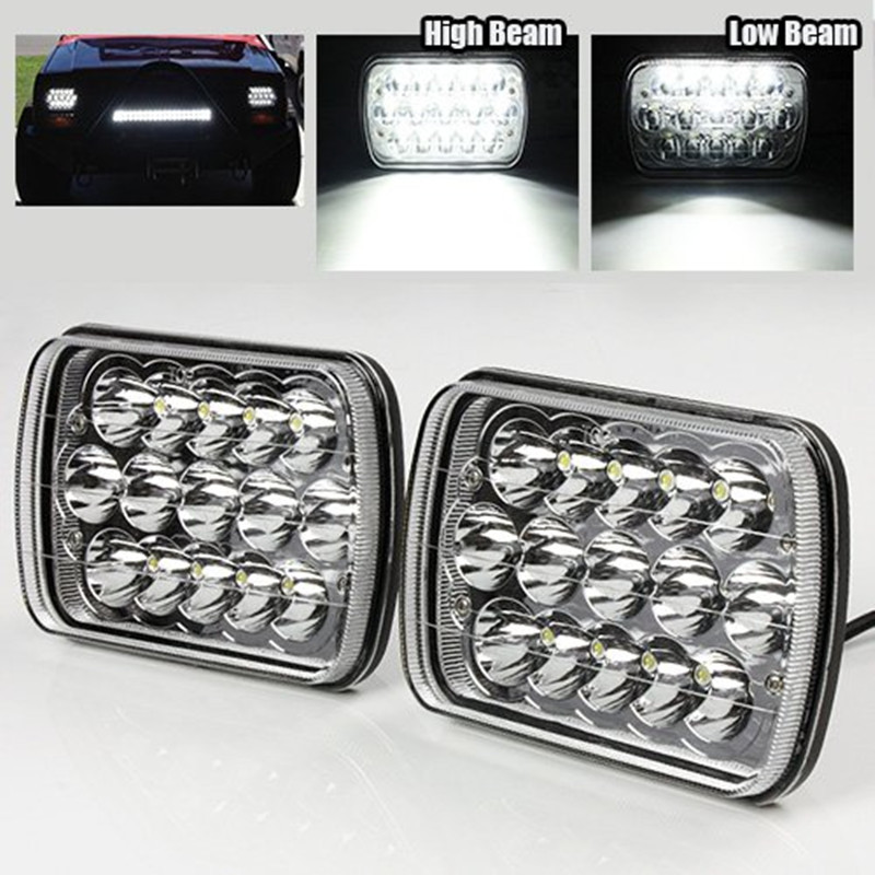 LED Work Light 7 X 6 Chrome Crystal 45W LED Headlight 1pair with DHL freeing shipping<br><br>Aliexpress