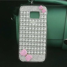 Elegant Pearls Bow-knot Case for Samsung J5 J7 2015/2016 Bling Diamond Cover for Samsung S8 Plus S6 S7 Edge C9 Pro Hard PC Coque