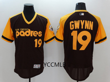 MLB Men's San Diego Padres 19 Gwynn 2017 Throwback Flex Base Authentic Collection Player Baseball Jersey Free Shipping(China)