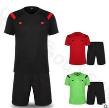 Soccer Referee Jersey Judge Uniform Professional Soccer Referee Clothing Football Referee Jersey set sports training cloth set