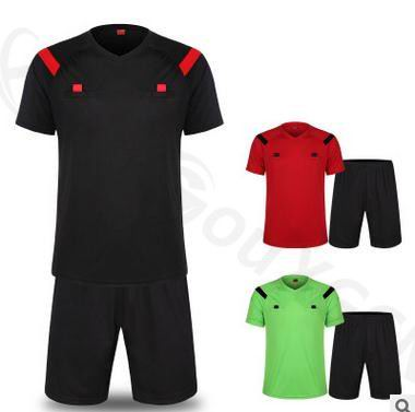 Soccer Referee Jersey Judge Uniform Professional Soccer Referee Clothing Football Referee Jersey set sports training cloth set(China)