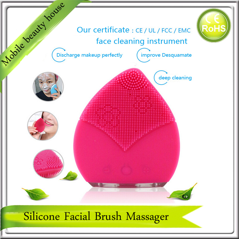 Anti-Aging Deep Skin Pores Sonic Vibrating Silicone Facial Makeup Cleansing Brush Cleanser Cleaner Beauty Massager<br><br>Aliexpress