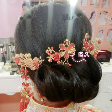 Wedding Bridal Hairclip With Flower Hair Bridesmaid Beaded Hair Pin Clip For Women Accessories HMY-007