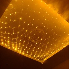 1.5*1.5 m 96 leds LED Lighting String Net Lights Curtain Garland Chandelier for Home Garden Outdoor Bar Storefront Decor(China)