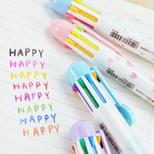 8Color Kawaii Ballpoint Pen Retractable Roller Pens 0.5mm Caneta Papeleria for Office & School Supplies Stationery Free Shipping
