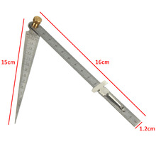 1pc Stainless Steel Taper Welding Feeler Gauge Gage Depth Ruler Gap Hole Inspection For Measurement Tool