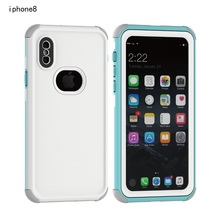 360 Degree Full Protect Waterproof and Anti-knock Case For Iphone 6 6S 7 8 Plus Hybrid 3 in 1 PC+PET+TPU Phone Back Cover Case(China)