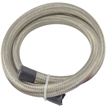 1M AN12 Universal Oil Fuel Hoes 3FT Stainless Steel Braided Fitting Hose Oil Cooler Adapter Oil Fule Hose Line Silver