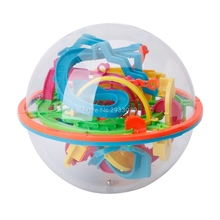 3D Maze Ball 138 Levels Large Educational Magic Intellect Ball Marble Puzzle Game Balance Maze Game Puzzle Toy for Kids -B116