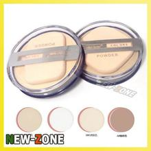 MH Clear Smoonth Makeup Face Pressed Powder Foundation Moist Dry Wet 2 Way Use Compact powder foundation Free Shipping(China)