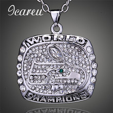Fans Love 2013 Seattle Seahawks Rugby Super Wrist Championship Necklace Full Rhinestones Pendant Necklace