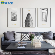 7-Space Stairs Design Wall Art Canvas Prints Nordic Canvas Painting Black White Poster Wall Pictures For Living Room Home Decor(China)