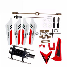 Free Shipping syma S107G Metal tee gyro R / C Helicopter RC plane major parts main blade tail rotor gear shaft Tripod (Red)