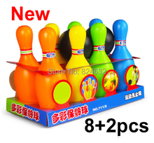 New baby toy balls bowling ball toy set cartoon baby bowling game toys for kids(China)