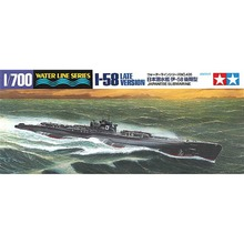 OHS Tamiya 31435 1/700 I 58 Late Version Japanese Submarine Assembly Scale Military Ship Model Building Kits(China)