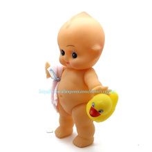 Small size 20cm Bathe Dolls Cute Naked Kewpie Baby with duck Antique Action Figures Kids Bathing Toy Birthday Gift For Children(China)