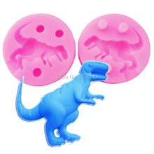 Dinosaur Shape Silicone Mold fondant cake molds chocolate mould for the kitchen baking Sugarcraft Decoration Tool M531,5*5*1.1cm