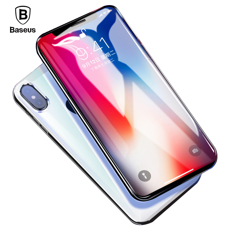 Baseus iPhone X Tempered Glass, 0.23mm Ultra Thin 3D Screen Protector iPhone X Glass Protective Front Film Glass Cover