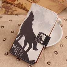LINGWUZHE Colorful Printed Book Style PU Leather Holster Card Slot Smart Phone Flip Cartoon Case For BlackBerry Q5 4G LTE(China)