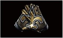 New Orleans Saints football team pennant 90 * 150CM US flag decorated sports gloves 100D Super Bowl NFL flag logo free shipping