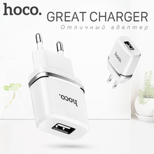 HOCO 5V 1.0A Universal Single USB Charger Wall Charger EU US Plug Portable for iPhone Samsung Xiaomi Charging Travel Adapter