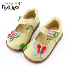 TipsieToes Brand Butterfly Sheepskin Leather Kids Children Sneakers Shoes For Girls Princess New 2017 Autumn Spring 62106(China)