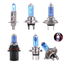 2Pcs Car Halogen Bulb Super Bright White H1 H4 H7 9007 100W/55W 12V Quartz Glass Blue Car Headlight Fog Lamp Bulb Halogen Lights