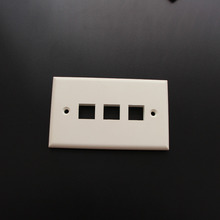 10 Piece 3 Port Faceplate 120 Type American Type Wall plate for RJ 11keystone jack RJ 45 Keystone Jack(China)