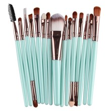 15 Pcs Pro Cosmetic Makeup Brush Foundation Eyeshadow Eyeliner Lip Brand Make Up Eye Brushes Pincel Maquiagem Set JH66