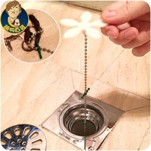 1Pcs Shower Drain Hair Catcher Stopper Clog Sink Strainer Bathroom Cleaning Protector Filter Strap Pipe Hook F0509