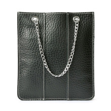 Brand New Genuine Leather Casual Bag Women's Mini Tote Bag Ladie's Handbag Metal Chain Handle Bag For Mobile Phone Wallet Purse