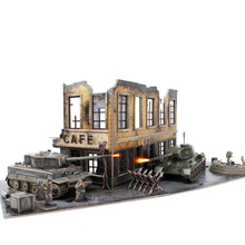 Candice guo CubicFun 3D paper puzzle model kid toy tank World War II Tiger I Soviet T-34/85 Cromwell MK.IV U.S. M4A4 Sherman 1pc