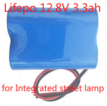 12V 3.3Ah LifePo4 battery 12.8V battery pack for Integrated street lamp automoti lamps traffic signs xenon LED lamp searchlight