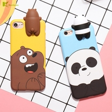 Buy KL-Boutiques 3D Cartoon Panda Case Coque iphone 7 6 Cases Naughty Bear Silicon Cover iphone 6 6S 7 Plus Fundas Men Women for $3.24 in AliExpress store