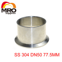 "2"" DN50 Sanitary Quick Install Female Threaded Ferrule Pipe Fitting Tri Clamp Type Stainless Steel SS 304 SS012"