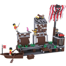 Pirate Series 358PCS Building Blocks Pirates Paradise Model Assembly DIY Gift For Children Bricks Compatible With lepin Wange