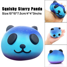 Squeeze Galaxy Cute 10 CM Panda Baby Cream Scented Squishy Slow Rising Fun Antistress Novelty Funny Gadgets Anti Stress Toys Toy(China)