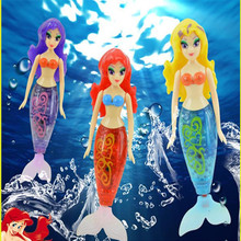 1 pcs Mermaid Fish Robot Inductive Control Tail Swimming Mermaid Princess Water Swimming Color Box Packing Kid Gift Toy