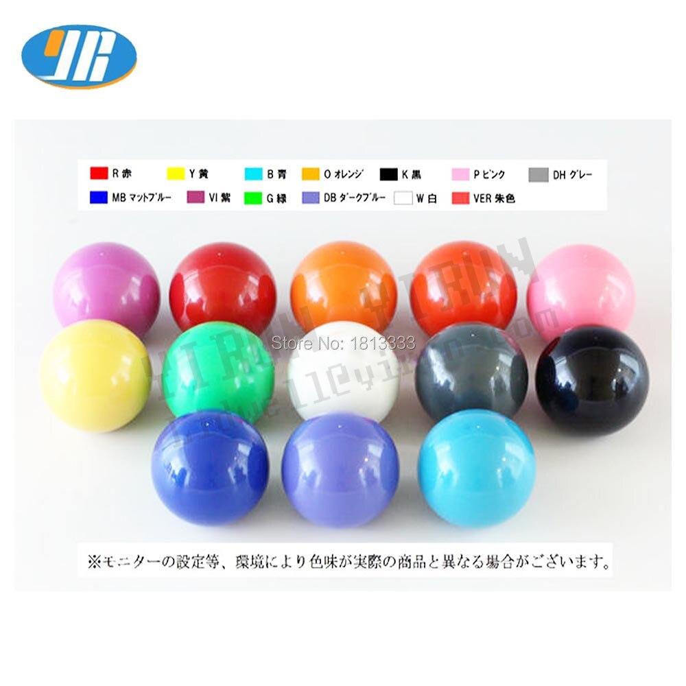 Sanwa Original Japan Arcade Joystick JLF-TP-8YT with Yellow Ball Top stick mod
