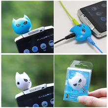 FFFAS 3 in 1 Batman Cute 3.5mm Jack Adapter to Headphone for Samsumg iPhone 5 5S 6 6S plus MP3 Player Earphone Splitter Adapter