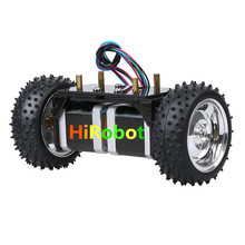 Two rounds of self-balancing stepper motor car two-wheel balancing car Smart car chassis(China)