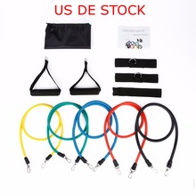 Resistance Bands Crossfit Latex Pilates Tubes Stretch Band Pull Rope Fitness Expanders Yoga Exercises Muscle Training Workout(China)