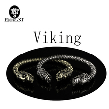 The vikings bracelet two Headed Wolf Fenrir Viking Logo Mens Bracelet Jewelry Maxi Men Pagan Bangle Jewelry Wristband Good Gift