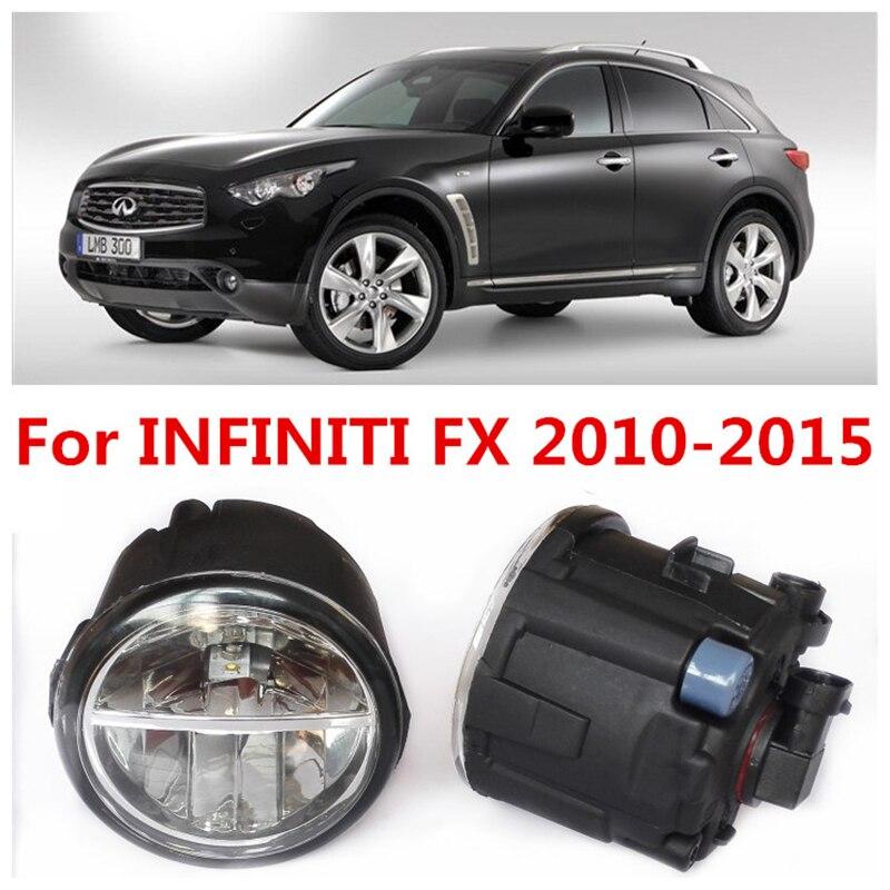 6000K  10W White High Brightness For INFINITI FX35 FX45 2010-2015 Car Styling Front Bumper LED Fog Lights Lamps DRL  2 PCS<br><br>Aliexpress