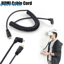 HDMI cable RCGEEK HDMI Cable Cord Spring Cable Extention for DJI Goggles FPV HD VR Glasses dropshipping gift db7 p30(China)