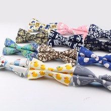 Men Bow Tie Plaid Style Cotton Duck Fish Rabbit Cat Bowtie Casual Gravata Borboleta Butterfly Tartan Strip Colorful Ties