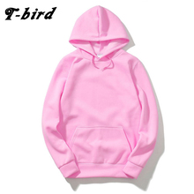 T-Bird 2017 Brand Men Hooded Solid Sweatshirts Men Women Hoodies Fitness Streetwear Hip Hop Male Pullover Winter Keep Warm Hoody(China)