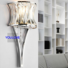 Modern Crystal Wall Lights Fixture Torch Wall Lamps Bed Room Bed Side Porch Light Home Indoor Lighting Restaurant Hotel Lights